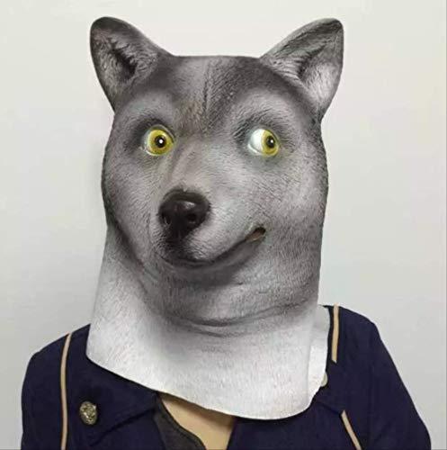 Tytlmask Gezichtsmasker voor hond en dier, latexmasker voor gezicht en gezicht, voor Halloween, dans, theater, speelgoed, fancy dress, cadeau voor festival