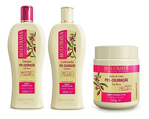 Pós-coloração Bioextratus 500ml Shampoo + Cond + Máscara