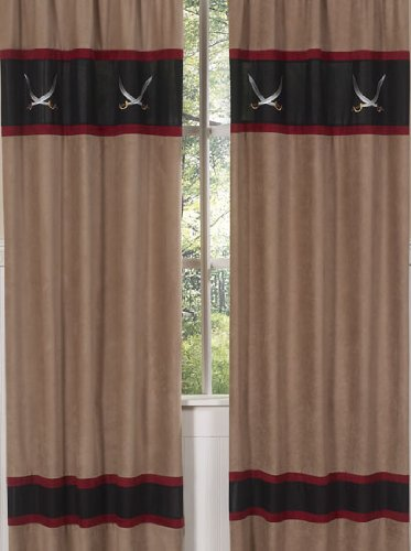 Sweet Jojo Designs 2-Piece Treasure Cove Pirate Window Treatment Panels