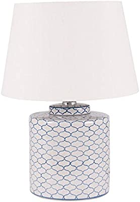 Pacific Lifestyle Table Lamp, Blue/White/Cream