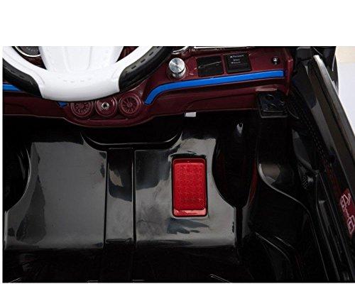 RC Auto kaufen Kinderauto Bild 4: Toyas Kinder Elektro Auto Sportwagen Cabrio Kinderfahrzeug mit Fernbedienung MP3 LED schwarz*