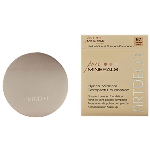 Artdeco Make-Up femme/woman, Hydra Mineral Compact Foundation 67 Natural peach (10g), 1er Pack (1 x 10 g)