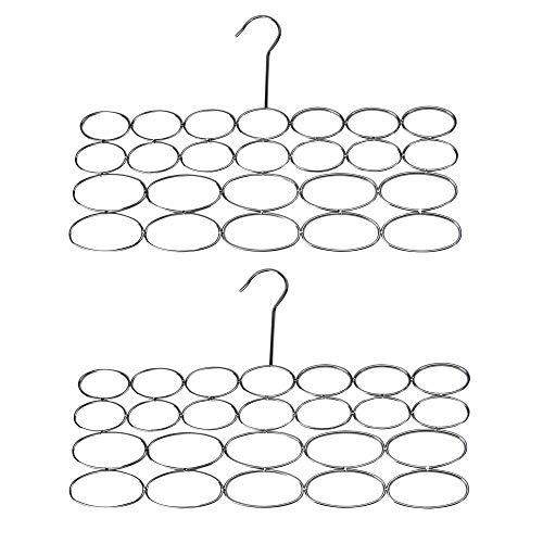 2 Schlaufen Schal & Krawattenhalter Aufbewahrung | Platzsparende Kleiderbügel | Kleiderschrank Organisierer| Mehrzweck- Kleiderbügel | M&W