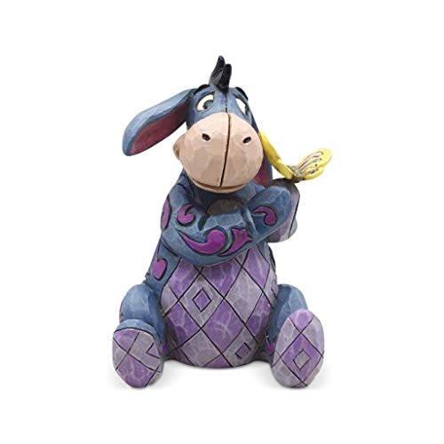 Enesco Disney Traditions by Jim Shore Winnie The Pooh Eeyore Holding Butterfly Miniature Figurine, 3.125 Inch, Multicolor