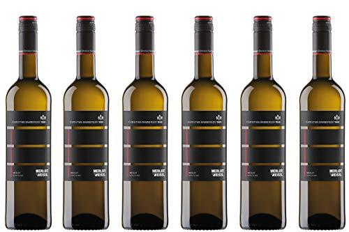 6 Flaschen Merlot ist weiss! Merlot Blanc de Noir trocken 2018