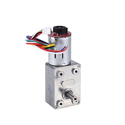 Motor de caja de engranajes de alto par DC 12V Motor de reducción de motor de tornillo sin fin de alto par con codificador Srong autoblocante para electrodomésticos(10RPM)