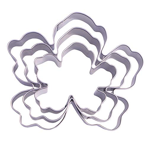 Tropical Flower Cookie Cutter Set - 3 Piece - Stainless Steel