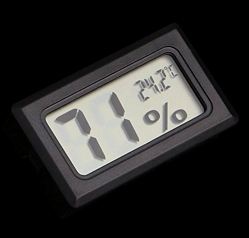 duolaimai Ultrakompaktes Mini elektronische Hygrometer Temperatur und Luftfeuchtigkeit Meter mit Tau