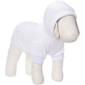 Mirage Pet Products 10-Inch Blank Hoodies, Small, Cream