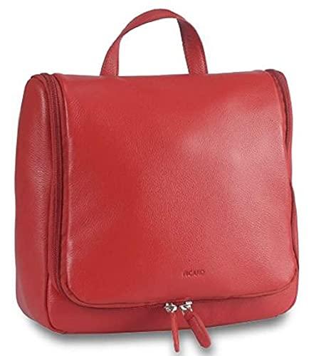 Picard, Neceser de Piel Resistente, Color Rojo, con Cremallera y asa, 81478512A7