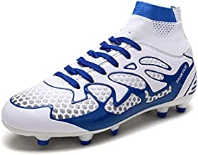 DREAM PAIRS Men's 160858-M White Royal Fashion Cleats Football Soccer Shoes Size 9.5 M US