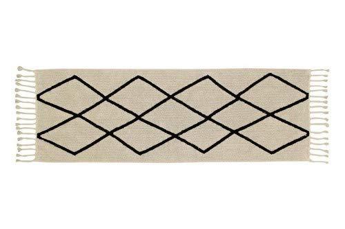 Lorena Canals Bereber - Alfombra Lavable (tamaño pequeño) 80 x 230 x 30 cm Beige