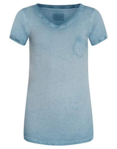 DAILY`S NOTHING`S BETTER BY S. W. B. Gwyneth: Damen T-Shirt aus 100% Biobaumwolle, Color:Bluestone, Size:XXL