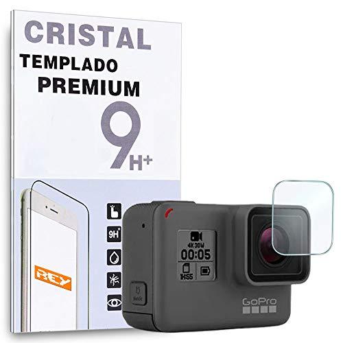 REY Protector de Pantalla para GOPRO HERO5 Black, HERO6 Black, HERO7 Black, Cristal Vidrio Templado Premium