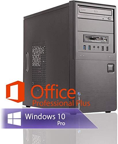Ankermann Multimedia Work PC Intel Dual Core 2X 2.70 Ghz Garantie HD Graphic 16GB RAM 480GB SSD 1000GB HDD Windows 10 Leise Office Professional