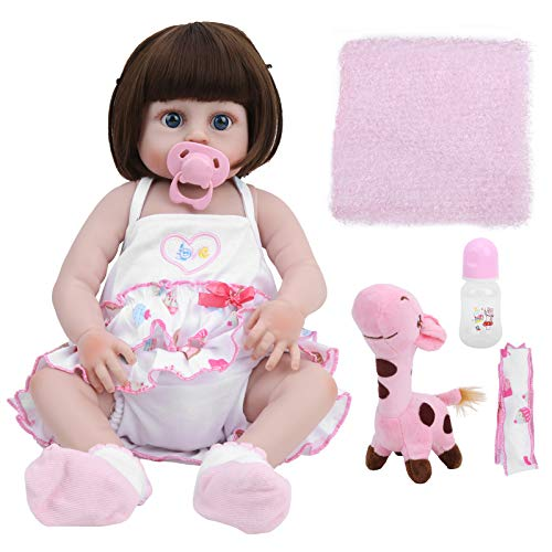 Asixxsix Baby Doll, Cute Reborn Doll, Vivid Interesting Baby para Regalos de cumpleaños para niños Juegos para niños Juguetes (Blue Eyes)