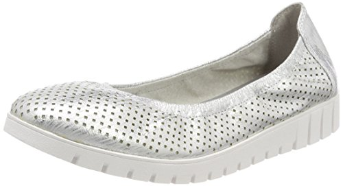 Tamaris Damen 22101 Slipper, Silber (Silver Struct.), 41 EU