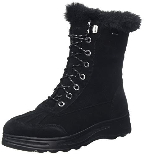 Geox D HOSMOS B ABX B, Botas de Nieve Mujer, Negro (Black C9999), 36 EU