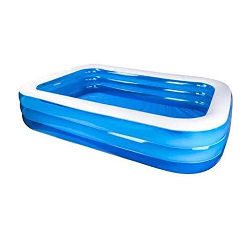 Xiaoyue Aufblasbare Pools Sommer-Strand-Pool, Aquarium Swim Center Toy Pool Family Fun Lounge Planschbecken Ball Pool-Fuss-Pumpe (Größe: 260 * 170 * 60cm) lalay (Size : 260 * 170 * 60cm)