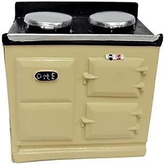 Melody Jane Dollhouse 2 Oven Cream Aga Stove 1:12 Miniature Kitchen Furniture