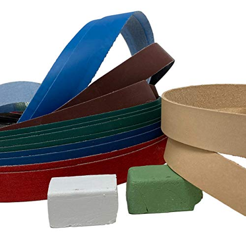 1 x 30 Double Combo Pack : 12 Grit + 2 Leather + Green & White Compound