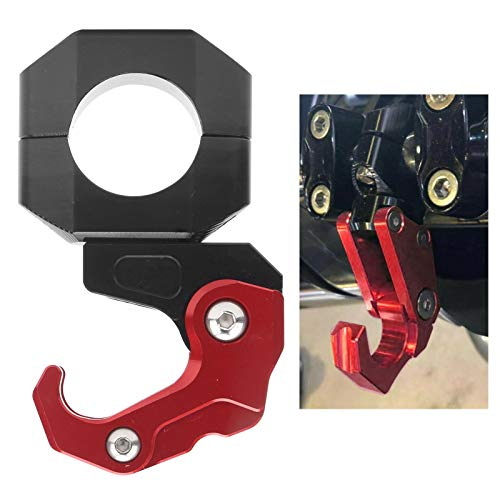 Helmet Hook, Handlebar Hook, Red Universal Light Weight Folding Mountain Bike for 28mm Motorcycles