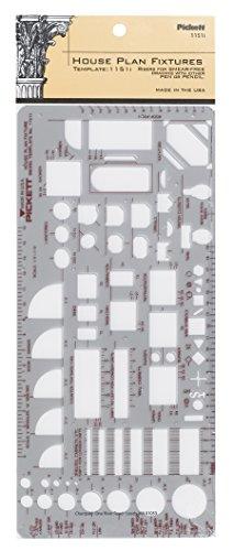 Pickett plantilla Isométrico de tuercas hexagonal y cabeza 6, color transparente