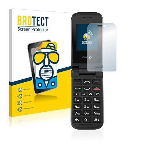 BROTECT 2X Entspiegelungs-Schutzfolie kompatibel mit Doro PhoneEasy 609 Bildschirmschutz-Folie Matt, Anti-Reflex, Anti-Fingerprint