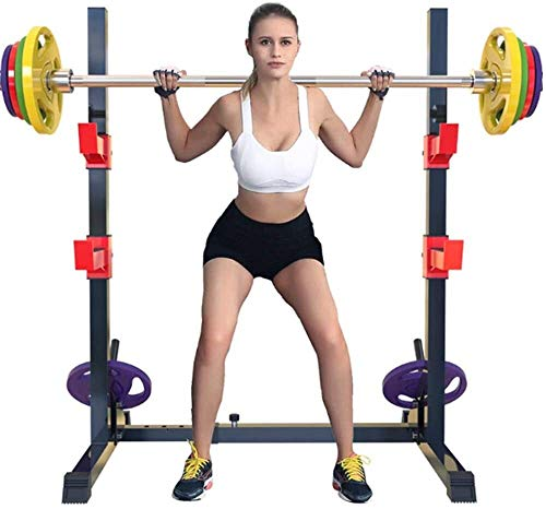 Cnley Banco de pesas plegable con 15 posiciones ajustable para sentadillas, equipo de fitness