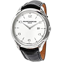 Baume et Mercier Clifton Date Silver Dial 45 mm Men's Watch