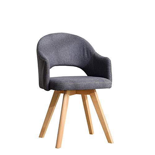 Gloop Hallo Home - Silla de comedor con respaldo abierto y patas de madera, silla de salón, silla de visita, silla moderna, color gris