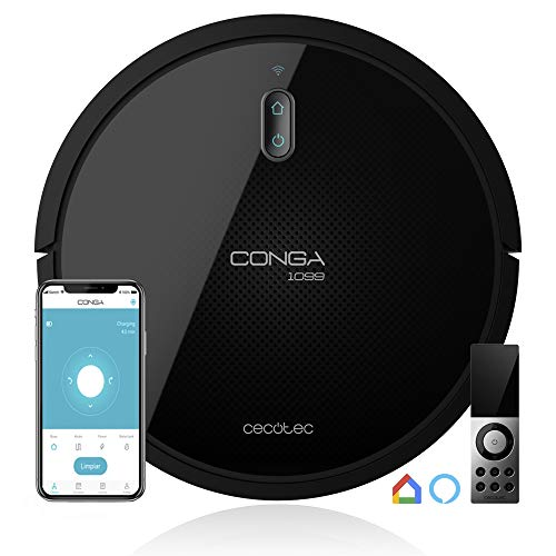 Cecotec Conga Serie 1099 Connected - 1400 Pa, iTech Smart 2.0, Compatible con Alexa y Google Home, incluye Mando a Distancia y Magnetic Strip