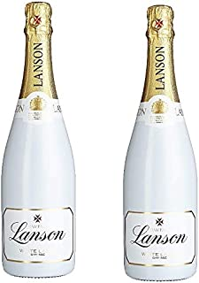 2 Flaschen Lanson White Lable 2 x 0.75 l dry seco Champagne