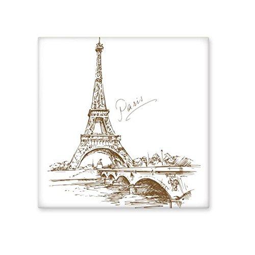 La Torre Eiffel París Francia Landmark patrón de cerámica crema decoración de decoración de azulejos para baño cocina azulejos de pared azulejos de cerámica