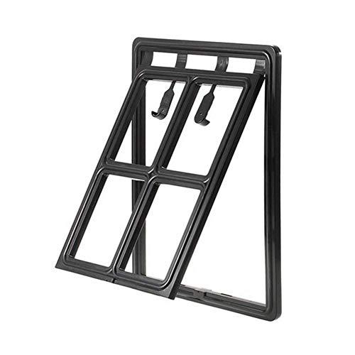Pet Dog Cat Gates Door Lockable Gate Way Cat Dog Magnetic Flap Door For Screens Anti-Mosquito Pet Supplies Easy Access (Color : Black, Size : 24X29Cm)