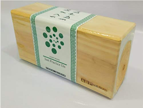 Best Selling Pine Wood Yoga Block   Pilates Block   Sports Exercise Fitness   For Gym, Workout & Stretching   Body Fitness Aid