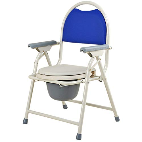 KYSZD-WC-Sitze Toilettenstühle | Commode Behindertentoilette | Toilettenstuhl Nachtstuhl Dusch Badehilfen Duschstuhl mit Armlehne und Rückenlehne | Ergonomischer Sitz
