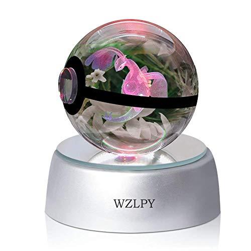 WZLPY 3D Kristall-Ball, LED-Nachtlicht für zum Beispiel Kinder oder als Geschenk, 50 mm große Kristallkugel mit automatischer Farbveränderung Modern Articun (luigiaa)