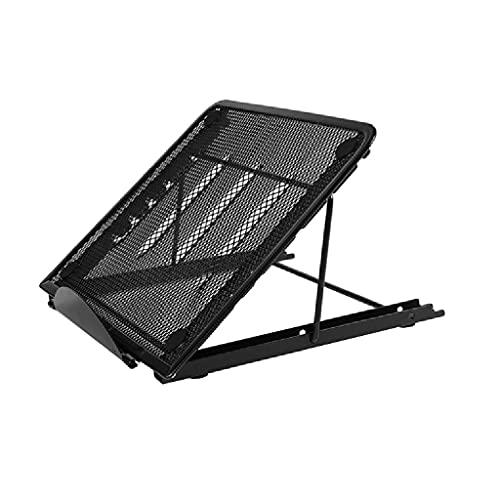 WPBOY Soporte de refrigeración multifuncional para portátil Soporte de refrigeración plegable Soporte ajustable Base de refrigeración Marco de elevación (color negro)