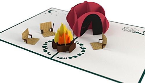 Lovepop Camping Trip Pop Up Card - 3D Card, Father's Day Card, Pop Up Father's Day Card, Card for Dad, Card for Husband, 3D Father's Day Card
