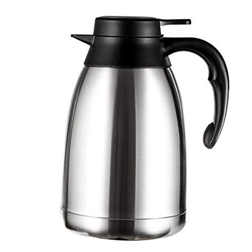 N / C Olla de Aislamiento al vacío de Acero Inoxidable, Frasco de vacío de Doble Pared, dispensador de té, Agua y café de 1,5 litros, para el hogar y la Oficina