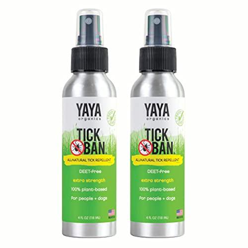 Yaya Organics Tick Ban   Extra Strength Tick Repellent Made with...