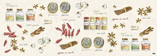 Vilber Gran Chef Canela Alfombra, Vinilo, Multicolor, 50x140x0.2cm