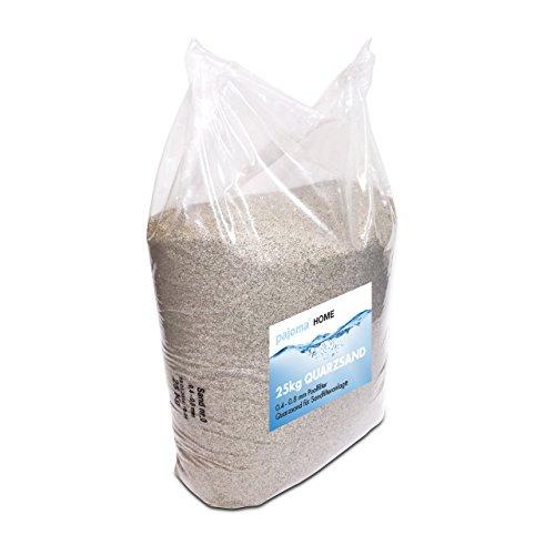 pajoma Filtersand/Quarzsand für Sandfilteranlage, 1er Pack (1 x 25kg) für Poolfilter