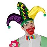 Guirca Erwachsene Mütze Clown Joker Giullare, Mehrfarbig, 13166