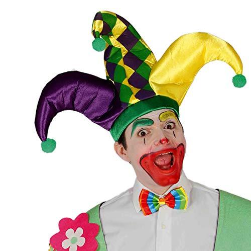 Guirca Clown Joker Hut, Mehrfarbig, Erwachsene, 13166