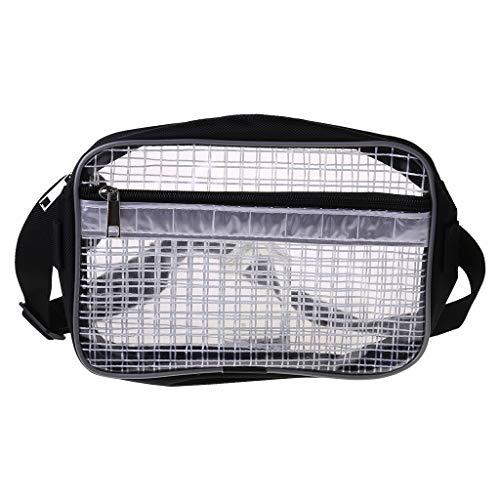 Yushu Bolsa de herramientas antiestática transparente para sala de limpieza de PVC de cubierta completa para la cintura de ingeniero, bolsa