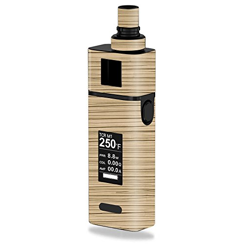 MightySkins Skin Compatible with JoyeTech Cuboid Mini 80W – Light Zebra Wood | Protective, Durable, and Unique Vinyl Decal wrap Cover | Easy to Apply, Remove, and Change Styles | Made in The USA