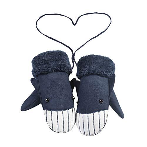 URSING Handschuhe Niedliche Baby Jungen Mädchen Kleinkind Winter-warmen Baumwolle Winterhandschuhe Fäustlinge Handschuhe Gloves Voller Finger Niedlich Verdicken Gloves mit Band (2-6 Jahre alt)