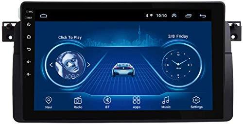 Estéreo de coche Sistema multimedia estéreo para automóvil, pantalla táctil de 9 pulgadas, reproductor multimedia para automóvil Android 9.0, para BMW E46 M3 318/320/325/330/335, radio Bluetooth WiFi